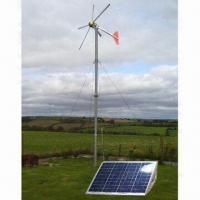 Quality Wind/Solar Hybrid System with 1.5kW Maximum Power and 48V DC Output Voltage for sale