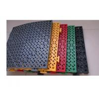 Thicker PVC perforated interlocking floor tiles Manufactures