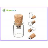 Bottle Glass Wooden USB Flash Drive 2.0 For Wedding Giveaways 4GB 8GB Manufactures