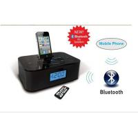 dual alarm clock radio stereo bluetooth speaker with iphone dock station Manufactures