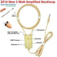 China 2014 NEW 3 Watt Amplified Inductive Neckloop can work with Magnetic Micro earpiece on sale