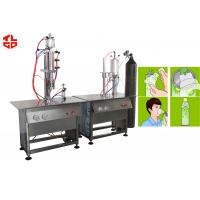 Semi Automatic O2 Gas Oxygen Filling Machine , Vacuum Crimping And Gas Filling Machines Manufactures