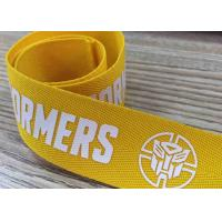 China Silk screen printed webbing with customized pattern poly band on sale