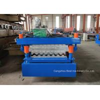 984 988 Roof Panel Roll Forming Machine / Sheet Metal Rolling Machine 8.5kw Manufactures