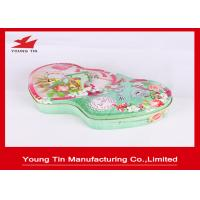 Double Heart Shape CMYK  Printed Candy Gift Tin Box Tinplate Metal With Embossing Manufactures