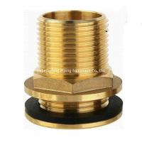 15mm od yellow brass color forged brass compression fitting straight threaded water tank connector Manufactures