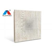 Corridor Vented Drop Ceiling Tiles / Perforated Aluminum Commercial Acoustical Ceilings Manufactures