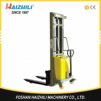 Durable steel 1 ton 2 meter double mast semi electric stacker for sale with CE Manufactures