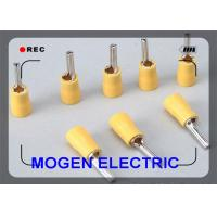 4 - 6mm Plating Quick Disconnect Insulated Wire Terminals , Yellow Insulated Pin Terminal Manufactures