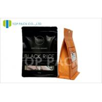 1000 g Coffee Packaging Bags matte black stand up pouch Rectangle Window Manufactures