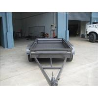 Custom Galvanized 8x5 Tandem Flatbed Trailer With 4000 KG Load Capacity Manufactures