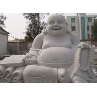 Chinese Happy Laugh Buddha White Carved Sitting Buddha Sculpture Manufactures