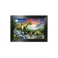 Colorful Dinosaur Design 3D Lenticular Pictures For Advertisement Manufactures