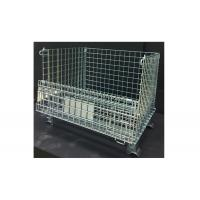 Square Wire Mesh Container Wire Mesh Storage Crates With Half Drop Gate Manufactures
