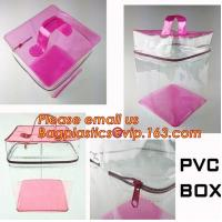 Custom made all kinds transparent plastic make up bag clear pvc cosmetic bag for women, new fashion eco-friendly cheap w Manufactures
