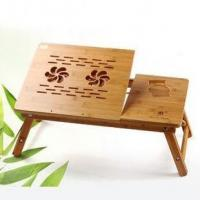 Buy cheap Bamboo wood laptop table,bamboo computer desk, eco-friendly from wholesalers
