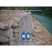 Monolithic Galvanized Iron Wire Hexagonal Welded Mesh Gabions Retaining Wall Manufactures