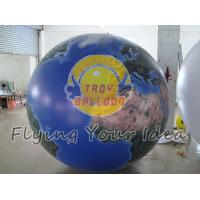 Blue Inflatable Earth Balloons Globe with 540*1080 dpi high resolution digital printing Manufactures