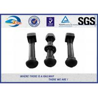 Quality Oxide Black Railway Bolt Nut for Fish Plate Grade 8.8 45 #  tunnel bolt for sale