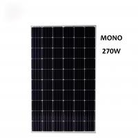 Discount  5BB 270W Mono Solar Panel Tempered Glass For Charging Battery Manufactures