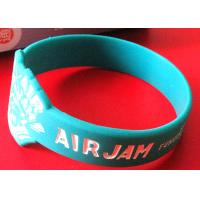Soft Feeling Custom Silicone Rubber Wristbands Ink Filled Logo Process Manufactures