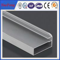 Quality holes drilling anodized shiny machined polish shower door frame parts aluminum for sale