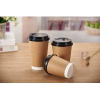 Custom Brand Printed 14oz ripple wall disposable coffee cup Manufactures