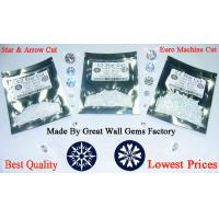 China produce and supply 1-10mm Top Machine Cut cubic zirconia (CZ) round and Heart & Arrow CZ round on sale