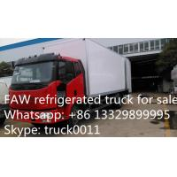 China famous FAW brand LHD 4*2 15ton refrigerated truck for sale, FAW brand 10tons-15tons cold room truck for sale Manufactures