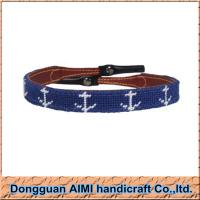 China AIMI Needlepoint Anchor Navy Sungalss Strap with Leather End Sunglass Strap on sale