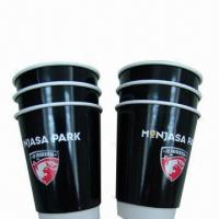Coffee/Drinking Disposable Single Wall Paper Cup, 8oz, Black, with SGS/FDA Marks, Supply Samples Manufactures
