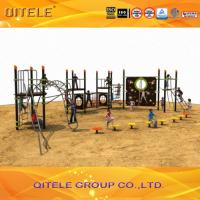Physical Activity Kids Play Equipment Outdoor Abrasion Resistant Rope Bridge And Climbing Wall Manufactures