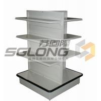 Four Way Supermarket Display Shelves Convenience Store Racks Q195 Material Manufactures