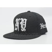 Printing / 3D Embroider Cotton Snapback Hip Pop Hat For Boys / Girls Manufactures