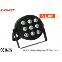 High Brightness 9 PCS *10W Quad Slim Par Can Lights With Plastic Shell Manufactures