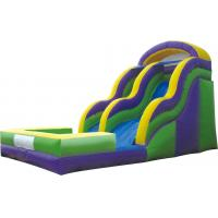Outdoor Commercial Plastic LLDPE Long Inflatable Water Slide For Youth / Adult Manufactures