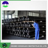 150g Black High Strength Circle Loom Polypropylene Woven Geotextile Filter Fabric Manufactures