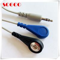 China Ecg/ Ekg 3.5mm Audio Jack To Electrode Lead Wires Nickle Plated Contact on sale