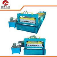 Thick Steel Sheet Metal Roll Forming Machine , Glazed Tile Roll Forming Machine