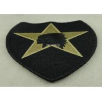 USA Military Personalised Embroidered Badges , Embroidery Custom Cloth Patches Manufactures
