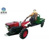 Multifunctional Walk Behind Garden Tractor With Mini Trailer Compact Structure Manufactures