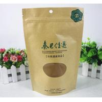 Flexible Packing Flat Bottom Food Packaging Plastic Bags With Clear Window Manufactures