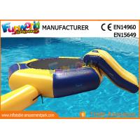 China Great Fun Inflatable Floating Water Toys Jumping Pad , 15 Foot Water Trampoline on sale