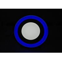 China Recessed Mount 24w Double Color LED Panel Light For Decoration on sale