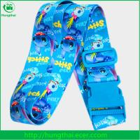 China 2017 cheap promotional fashion printed luggage strap with buckle wholesale on sale