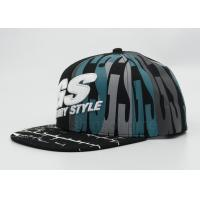 Cotton Twill Printed Baseball Caps 3D Embroidery Snapback Adjustable Manufactures