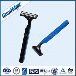 Sensitive Skin Good Max Razor Twin Blade Disposable Razor With Non - Slip Handle Manufactures