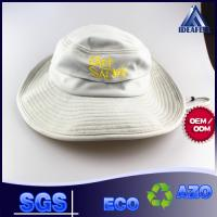 China Casual Hiking Fishing Boonie Bucket Hat , Embroidery Logo Beige Bucket Hat on sale