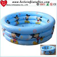 DIY size 3 rings inflatable baby swim pool air bath tube Manufactures