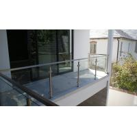 Glass Railing/ Glass Balustrade with Stainless Steel Post for Balcony Design Manufactures